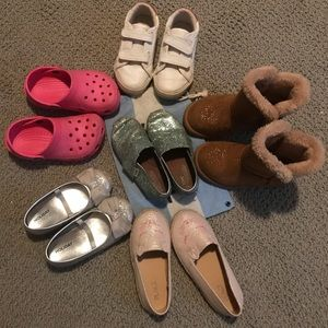 6 pairs of 8T toddler girl shoes